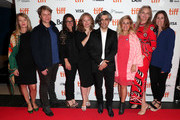 (L-R) Executive producer Eva Mulvad, VP, Documentary Films, National Geographic Ryan Harrington, President, National Geographic Global Television Networks Courteney Monroe, producer Kirstine Barfod, director Feras Fayyad, producer Sigrid Dyekjær, executive producer Pernille Rose Grønkjær and Executive VP, Global Scripted Content and Documentary Films, National Geographic Carolyn Bernstein attend the 2019 Toronto Film Festival premiere of National Geographic Documentary Films' THE CAVE on September 05, 2019 in Toronto, Canada.