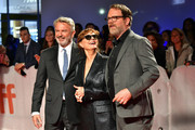 (L-R) Sam Neill, Susan Sarandon and Rainn Wilson attend the 'Blackbird' premiere during the 2019 Toronto International Film Festival at Roy Thomson Hall on September 06, 2019 in Toronto, Canada.