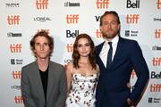 "(L-R) Max Winkler, Jessica Barden, and Charlie Hunnam attends the ""Jungleland"" photo call during the 2019 Toronto International Film Festival at Princess of Wales Theatre on September 12, 2019 in Toronto, Canada."