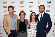 "(L-R) Fran Kranz, Max Winkler, Jessica Barden, and Charlie Hunnam attend the ""Jungleland"" photo call during the 2019 Toronto International Film Festival at Princess of Wales Theatre on September 12, 2019 in Toronto, Canada."