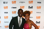 """Sterling K. Brown and Ryan Michelle Bathe attend the """"Waves"""" premiere during the 2019 Toronto International Film Festival at Ryerson Theatre on September 10, 2019 in Toronto, Canada."""