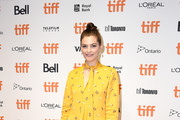 "Amber Anderson attends the ""White Lie"" photo call during the 2019 Toronto International Film Festival at TIFF Bell Lightbox on September 07, 2019 in Toronto, Canada."