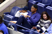 Professional golfer Tiger Woods attends the Men's Singles fourth round match between Rafael Nadal of Spain and Marin Cilic of Croatia on day eight of the 2019 US Open at the USTA Billie Jean King National Tennis Center on September 02, 2019 in Queens borough of New York City.