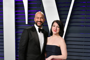 Keegan-Michael Key (L) and Elisa Pugliese attend the 2019 Vanity Fair Oscar Party hosted by Radhika Jones at Wallis Annenberg Center for the Performing Arts on February 24, 2019 in Beverly Hills, California.