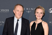 Francois-Henri Pinault and Alyse Nelson, President and CEO of Vital Voices attend the 2019 Vital Voices Solidarity Awards at IAC Building on December 09, 2019 in New York City.