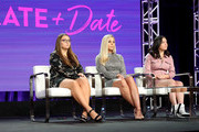 """(L-R) Cara Gosselin, Kate Gosselin, and Mady Gosselin of the television show """"Kate Plus Date  speak during the HGTV segment of the 2019 Winter Television Critics Association Press Tour at The Langham Huntington, Pasadena on February 12, 2019 in Pasadena, California."""