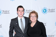 (L-R) James LaRosa and Caryl M. Stern attend the 2019 World of Children Hero Awards Benefit at The London West Hollywood on April 25, 2019 in West Hollywood, California.