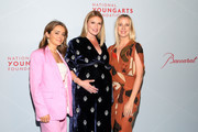 Yulia Dultsina, Sarah Arison and  Marysia Reeves attend the YoungArts New York Gala at the Metropolitan Museum on April 16, 2019 in New York City.