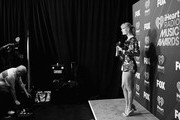 Image has been shot in black and white. Color version not available.) Taylor Swift attends the 2019 iHeartRadio Music Awards which broadcasted live on FOX at Microsoft Theater on March 14, 2019 in Los Angeles, California.