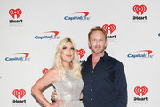 (EDITORIAL USE ONLY) (L-R) Tori Spelling and Ian Ziering attend the 2019 iHeartRadio Music Festival at T-Mobile Arena on September 20, 2019 in Las Vegas, Nevada.