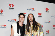 (EDITORIAL USE ONLY) (L-R) Darren Criss and Steve Aoki attend the 2019 iHeartRadio Music Festival at T-Mobile Arena on September 20, 2019 in Las Vegas, Nevada.