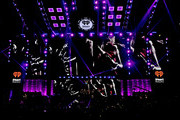 (EDITORIAL USE ONLY) Guests onstage with Steve Aoki  during the 2019 iHeartRadio Music Festival at T-Mobile Arena on September 20, 2019 in Las Vegas, Nevada.