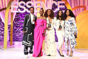 (L-R) Billy Porter, Angelica Ross, Janet Mock, Hailie Sahar and Mj Rodriguez pose onstage the 2020 13th Annual ESSENCE Black Women in Hollywood Luncheon at Beverly Wilshire, A Four Seasons Hotel on February 06, 2020 in Beverly Hills, California.