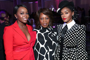 (L-R) Aja Naomi King, Alfre Woodard, and Janelle Monáe attend the 2020 13th Annual ESSENCE Black Women in Hollywood Luncheon at Beverly Wilshire, A Four Seasons Hotel on February 06, 2020 in Beverly Hills, California.