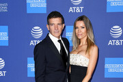 (L-R) Antonio Banderas and Nicole Kimpel attend the 31st Annual Palm Springs International Film Festival Film Awards Gala at Palm Springs Convention Center on January 02, 2020 in Palm Springs, California.