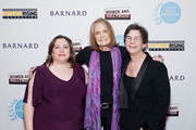 (L-R) Athena Film Festival co-founder Melissa Silverstein, Gloria Steinem and Athena Film Festival co-founder Kathryn Kolbert attend the 2020 Athena Film Festival awards ceremony at The Diana Center at Barnard College on February 26, 2020 in New York City.