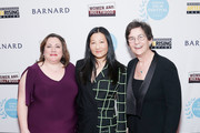 (L-R) Athena Film Festival co-founder Melissa Silverstein, director Unjoo Moon and Athena Film Festival co-founder Kathryn Kolbert attend the 2020 Athena Film Festival awards ceremony at The Diana Center at Barnard College on February 26, 2020 in New York City.