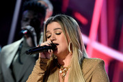 In this image released on October 14, Kelly Clarkson performs onstage at the 2020 Billboard Music Awards, broadcast on October 14, 2020 at the Dolby Theatre in Los Angeles, CA.