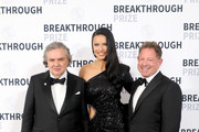 Alex Eskin, Adriana Lima and Bobby Kotick attend the 2020 Breakthrough Prize at NASA Ames Research Center on November 03, 2019 in Mountain View, California.
