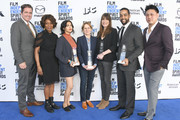 (L-R) President of Film Independent Josh Welsh, presenter Alfre Woodard, and award winners Nadia Shihab, Kelly Reichardt, Mollye Asher, Rashaad Ernesto Green and presenter Jon M. Chu attend the 2020 Film Independent Spirit Awards Nominees Brunch at BOA Steakhouse on January 04, 2020 in West Hollywood, California.