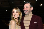 (L-R) Olivia Wilde and Jon Hamm attend the 2020 Film Independent Spirit Awards on February 08, 2020 in Santa Monica, California.
