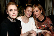 (L-R) Greta Gerwig, Mamie Gummer, and Allison Janney attend the Cadillac Oscar Week Celebration at Chateau Marmont on February 6, 2020 in Los Angeles, California.