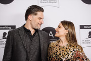 Joe Manganiello and Sofia Vergara arrive at the 2020 LA Art Show Opening Night at Los Angeles Convention Center on February 05, 2020 in Los Angeles, California.
