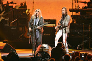 (L-R) Melissa Etheridge and Nuno Bettencourt perform onstage during MusiCares Person of the Year honoring Aerosmith at West Hall at Los Angeles Convention Center on January 24, 2020 in Los Angeles, California.