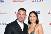 (L-R) Channing Tatum and Jessie J attend MusiCares Person of the Year honoring Aerosmith at West Hall at Los Angeles Convention Center on January 24, 2020 in Los Angeles, California.