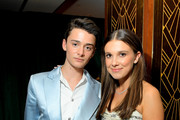 Noah Schnapp and Millie Bobby Brown attend 2020 Netflix SAG After Party at Sunset Tower on January 19, 2020 in Los Angeles, California.