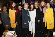 (L-R) Aisha Harris, Shaandiin Tome, Callie Holley, Hillary Rodham Clinton, Eva Longoria, Gloria Steinem, Keri Putnam and Amy Emmerich attend the 2020 Women at Sundance Celebration hosted by Sundance Institute and Refinery29, Presented by LUNA at Juniper at Newpark on January 27, 2020 in Park City, Utah.