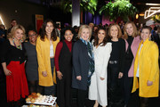 (L-R) Pat Mitchell, Aisha Harris, Shaandiin Tome, Callie Holley, Hillary Rodham Clinton, Eva Longoria, Gloria Steinem, Keri Putnam and Amy Emmerich attend the 2020 Women at Sundance Celebration hosted by Sundance Institute and Refinery29, Presented by LUNA at Juniper at Newpark on January 27, 2020 in Park City, Utah.