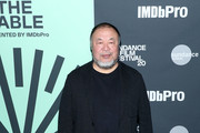 Ai Weiwei attends Sundance Institute's 'An Artist at the Table Presented by IMDbPro' at the 2020 Sundance Film Festival on January 23, 2020 in Park City, Utah.