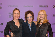 """Radha Mitchell,  Lisa Cholodenko and Patricia Clarkson attend the 2020 Sundance Film Festival """"High Art"""" Premiere at Egyptian Theater on February 01, 2020 in Park City, Utah."""