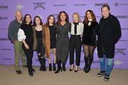 """(L-R) Reed Birney, Miriam Shor, Molly Brown, Oona Laurence, Director Liz Garbus, Amy Ryan, Lola Kirke and Dean Winters attend the 2020 Sundance Film Festival - """"Lost Girls"""" Premiere at Eccles Center Theatre on January 28, 2020 in Park City, Utah."""