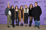 """(L-R) Reed Birney, Miriam Shor, Molly Brown, Oona Laurence, Amy Ryan, Lola Kirke and Dean Winters attend the 2020 Sundance Film Festival - """"Lost Girls"""" Premiere at Eccles Center Theatre on January 28, 2020 in Park City, Utah."""