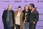 """Sean Durkin, Oona Roche, Charlie Shotwell, and Jude Law attend the 2020 Sundance Film Festival - """"The Nest"""" Premiere at Eccles Center Theatre on January 26, 2020 in Park City, Utah."""