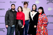 "Jett Steiger, Carrie Brownstein, Bill Benz, Annie Clark and Lana Kim attend the 2020 Sundance Film Festival - ""The Nowhere Inn"" Premiere at Library Center Theater on January 25, 2020 in Park City, Utah."