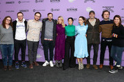 "(L-R) Sundance Producer Heidi Zwicker, Avika Schaffer, Max Barbakow, Andy Samberg, Meredith Hagner, Camila Mendes, Cristin Milioti, Tyler Hoechlin, Andy Siara, and Becky Sloviter attend the 2020 Sundance Film Festival - ""Palm Springs"" Premiere at Library Center Theater on January 26, 2020 in Park City, Utah."
