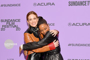 """Riley Keough and Aziah King attend the """"Zola"""" premiere during the 2020 Sundance Film Festival at Eccles Center Theatre on January 24, 2020 in Park City, Utah."""