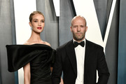 Rosie Huntington-Whiteley and Jason Statham attend the 2020 Vanity Fair Oscar Party hosted by Radhika Jones at Wallis Annenberg Center for the Performing Arts on February 09, 2020 in Beverly Hills, California.