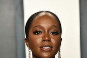 Aja Naomi King attends the 2020 Vanity Fair Oscar Party hosted by Radhika Jones at Wallis Annenberg Center for the Performing Arts on February 09, 2020 in Beverly Hills, California.
