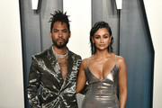 (L-R) Miguel and Nazanin Mandi attend the 2020 Vanity Fair Oscar Party hosted by Radhika Jones at Wallis Annenberg Center for the Performing Arts on February 09, 2020 in Beverly Hills, California.