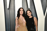 Rumer Willis and Demi Moore attend the 2020 Vanity Fair Oscar Party hosted by Radhika Jones at Wallis Annenberg Center for the Performing Arts on February 09, 2020 in Beverly Hills, California.