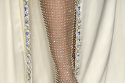 Adriana Lima, shoe detail, attends the 2020 Vanity Fair Oscar Party hosted by Radhika Jones at Wallis Annenberg Center for the Performing Arts on February 09, 2020 in Beverly Hills, California.