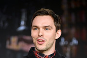 """Nicholas Hoult of """"The Great"""" speaks during the Hulu segment of the 2020 Winter TCA Press Tour at The Langham Huntington, Pasadena on January 17, 2020 in Pasadena, California."""