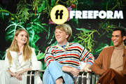 "(L-R) Kayla Cromer, Josh Thomas and Adam Faison of ""Everything's Going to be Ok"" speak during the Freeform segment of the 2020 Winter TCA Press Tour at The Langham Huntington, Pasadena on January 17, 2020 in Pasadena, California."
