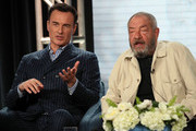 """(L-R) Julian McMahon and Dick Wolf of """"FBI: Most Wanted"""" speak during the CBS segment of the 2020 Winter TCA Press Tour at The Langham Huntington, Pasadena on January 12, 2020 in Pasadena, California."""