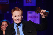 (FOR EDITORIAL USE ONLY) Conan O'Brien accepts the Best Comedy Podcast award for 'Conan O'Brien Needs A Friend' onstage at the 2020 iHeartRadio Podcast Awards at the iHeartRadio Theater on January 17, 2020 in Burbank, California.