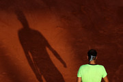 Rafael Nadal of Spain during his Men's Singles Semi Final match against Novak Djokovic of Serbia on day Thirteen of the 2021 French Open at Roland Garros on June 11, 2021 in Paris, France.